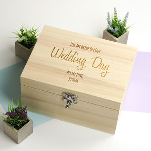 Personalised For My Bride Or Groom Keepsake Box - keepsake boxes