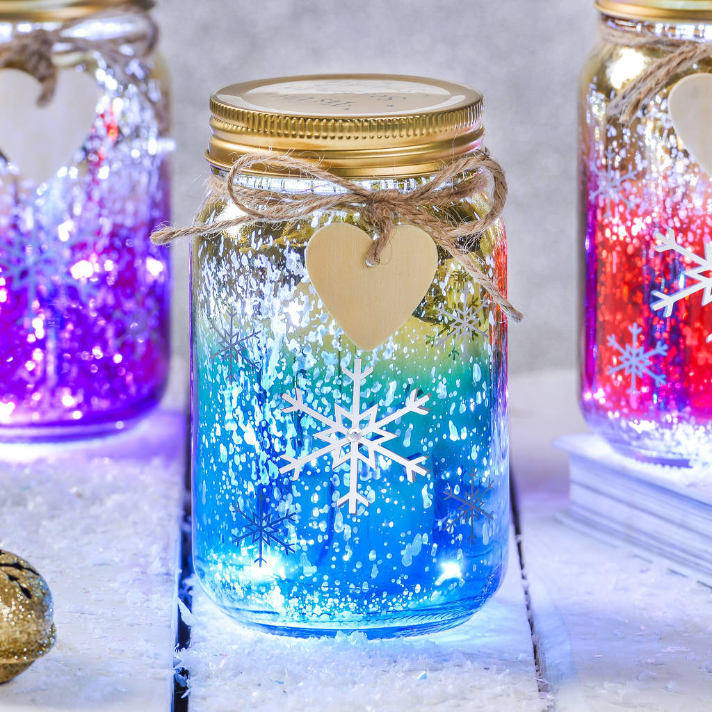 9aa1bd82 christmas snowflake led ombre jar by thelittleboysroom ...