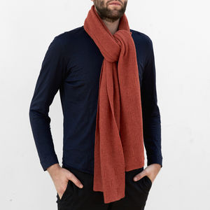 Knitted Lambswool Garter Stitch Scarf | Four Colours