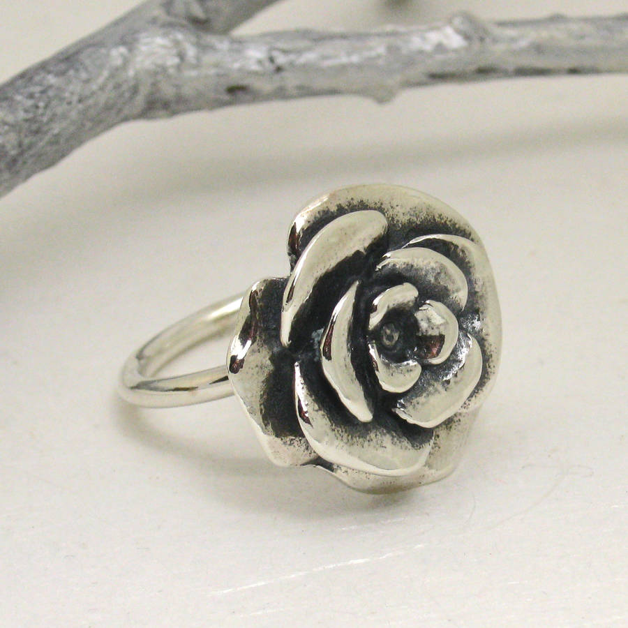 large sterling silver rose ring by faith tavender. Black Bedroom Furniture Sets. Home Design Ideas