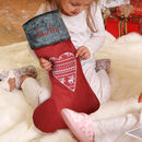 Personalised Nordic Heart Stocking With Free Gift