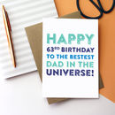 Happy Birthday Personalised Best Dad Universe Card