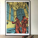 Stylish Pop Art Print King's College Chapel Cambridge