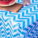 Chevron Aqua Outdoor Tablecloth