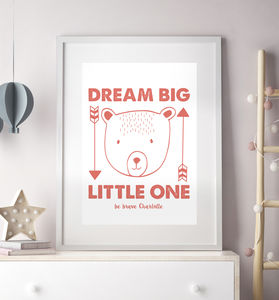 Personalised Bear Illustration Print