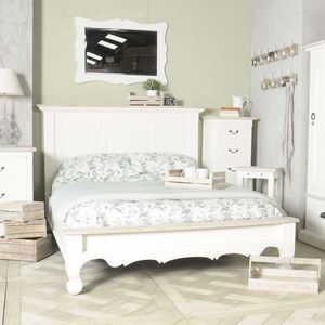 Bayonne Low Footboard Bed White Or Grey - beds