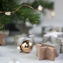 Christmas Star Concrete Table Decorations