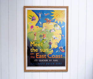 Original L.N.E.R Poster Meet The Sun On The East Coast - posters & prints