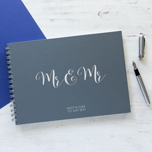 Mr And Mr Wedding Guest Book, Memory Book Or Album
