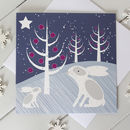 Snow Rabbit Scandi Christmas Card