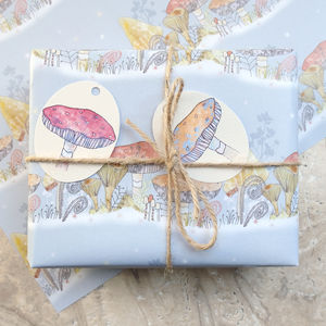 Toadstool Gift Wrap - wrapping paper