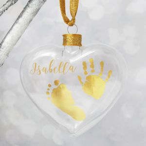 Personalised Handprint Christmas Bauble Decoration
