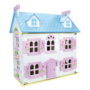 Pear Tree Doll's House With Furniture And Dolls