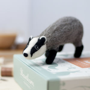 Badger Needle Felting Craft Kit - creative kits & experiences