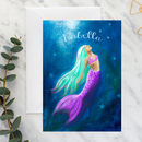 Personalised Mermaid Card A5