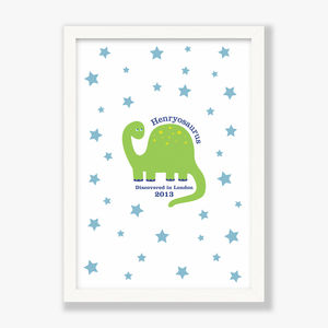 Personalised Dinosaur Print - personalised