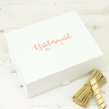 Personalised Rose Gold Bridesmaid Gift Box