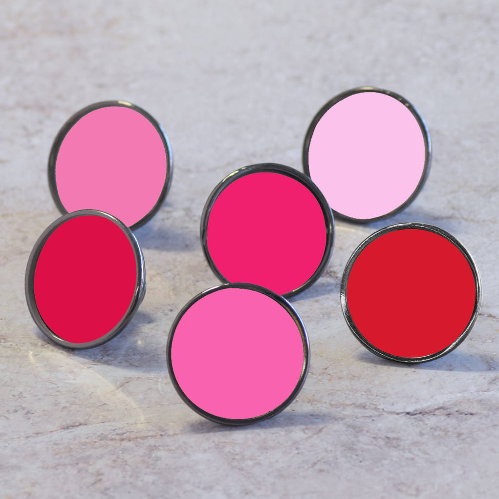 pink colourful cabinet drawer door knobs by pushka home ...