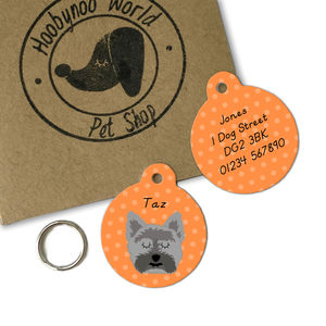 Cairn Terrier Personalised Dog ID Tag - dogs