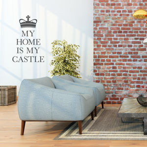 'My Home Is My Castle' Wall Sticker - dining room