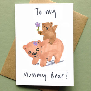 Mummy Bear Mothers Day Card - mother's day cards