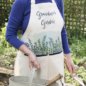 Personalised Garden Apron - gifts for grandparents