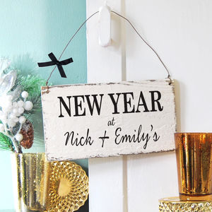 Personalised New Year Sign - signs