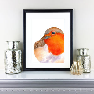 Original Watercolour Painting Of A Cute Robin - paintings