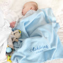 Personalised Baby Blue Fleece Blanket