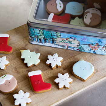 Cute Christmas Biscuit Tin