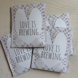 Lace Love Is Brewing Wedding Favour - wedding favours
