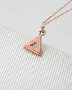 Geometric Triangle Rose Gold Pendant