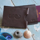 Personalised Moustache Passport Holder