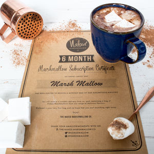 Three Or Six Month Gourmet Marshmallow Subscription - chocolates & confectionery