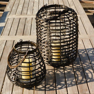 Rattan Outdoor Lanterns