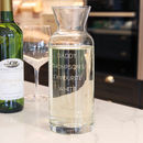 Engraved Glass Wine Carafe