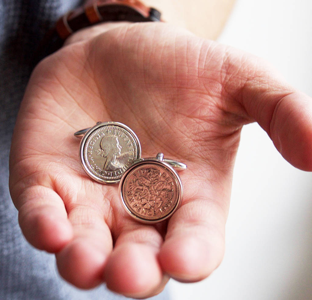 7d1f2edb0f4e3 Sixpence Year Coin Cufflinks 1928 To 1967