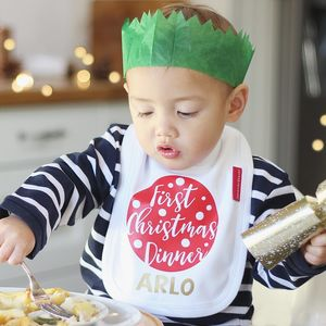 First Christmas Dinner Bib - baby's first christmas