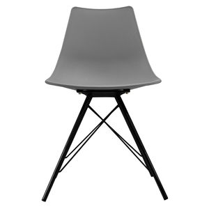 Cool Grey Oslo Chair With Black Metal Legs - furniture