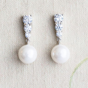 Alison Pearl And Crystal Earrings