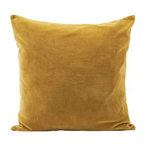Oversized Mustard Yellow Velvet Cushion