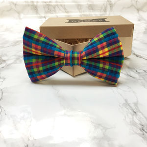 Burley Multi Coloured Dog Bow Tie - clothes & accessories