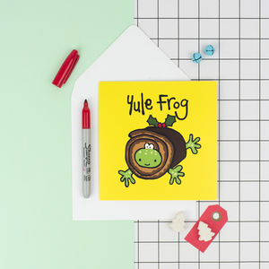 Yule Frog Christmas Card - cards & wrap