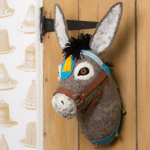 Violet Donkey Head Wall Hanging - baby's room