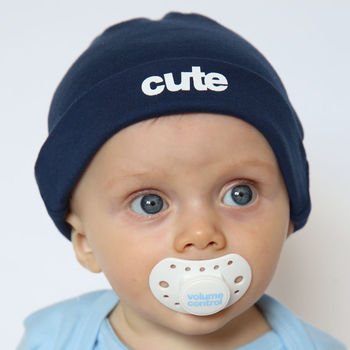 Cute Cool Baby Hat Navy
