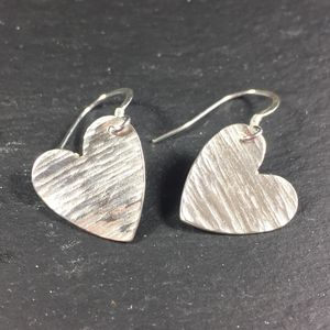 Hammered Heart Earrings - earrings