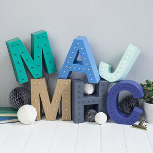 Handmade Battery Operated Letter Light - decorative letters