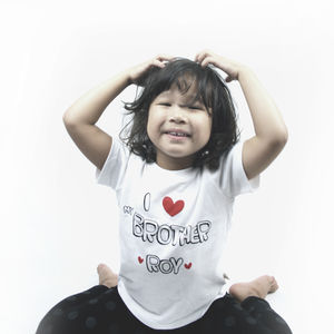 Handprinted And Personalised I Love My Brother T Shirt