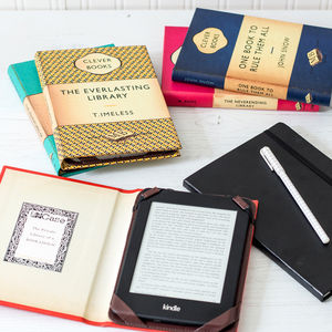 Personalised Kindle And Tablet Book Cover - book-lover