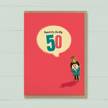 Big 50th Special Age Birthday Card By The Typecast Gallery